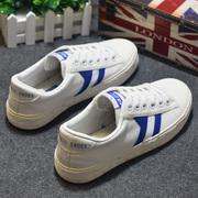 环球春季白色低帮帆布鞋男女情侣平底系带小白鞋学生板鞋