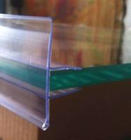 药店玻璃层板插条标签条标价条标价牌玻璃卡条标价签卡签透明卡条