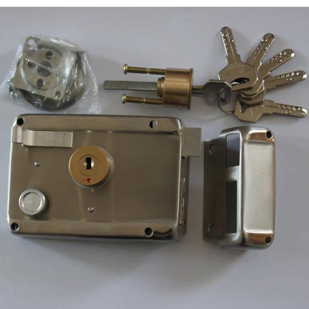 明装锁 不锈钢外装门锁 防盗锁 大门锁 户门锁