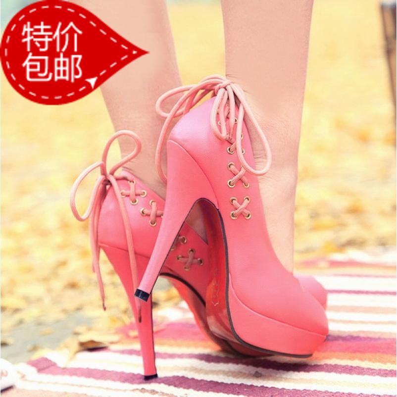 туфли 11664 новый пост 2013 весна лето осень сладкий asakuchi обувь платформы высокой пятки обувь