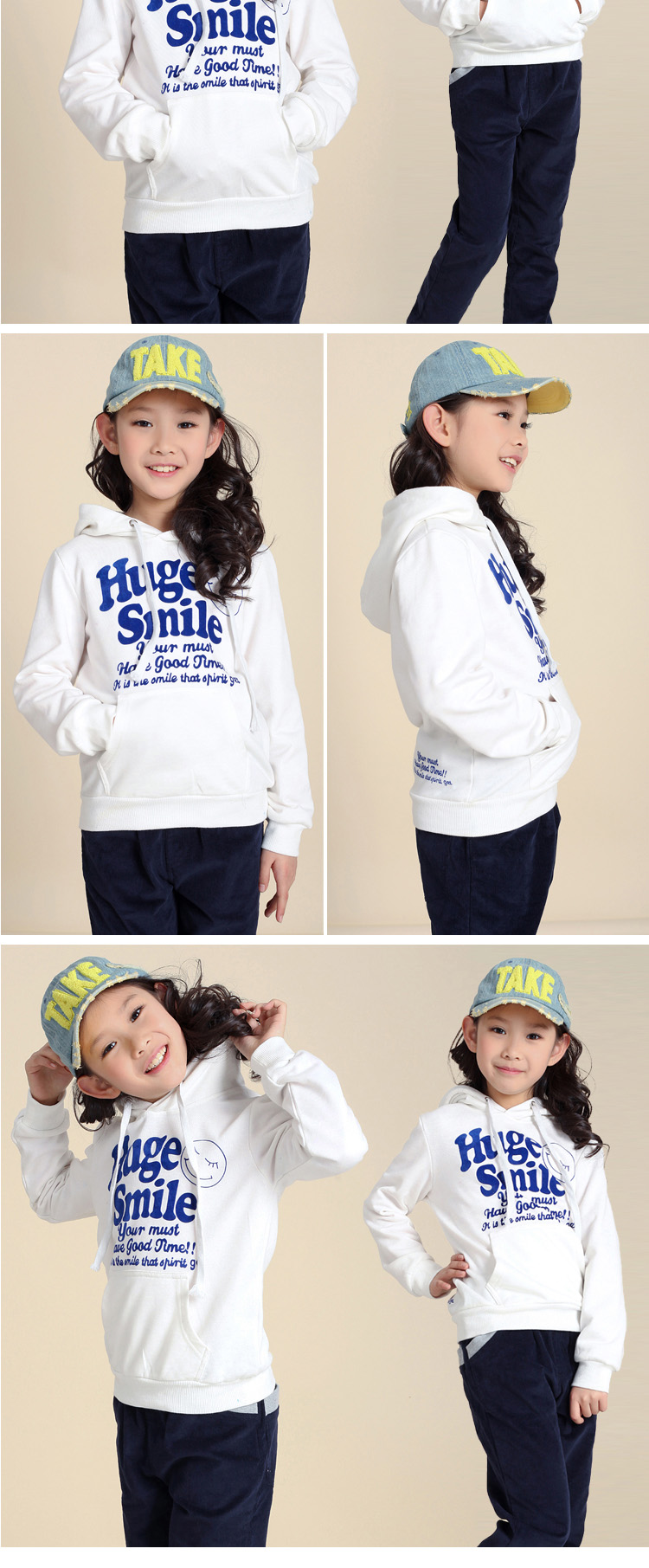 2013 spring new sweater for girls Korean hooded toe caps sweater big children in the spring and autumn new woman coat