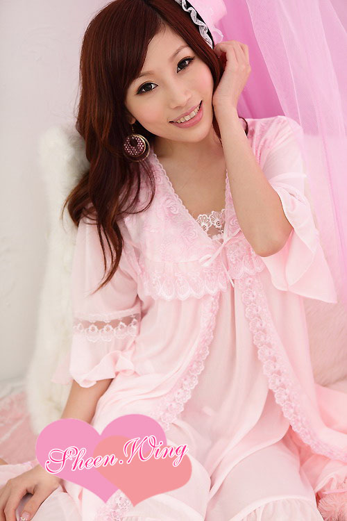 Veegol-HG Wholesale * pink nightgown suit harness Lingerie sets fat MM Optional straps pajamas