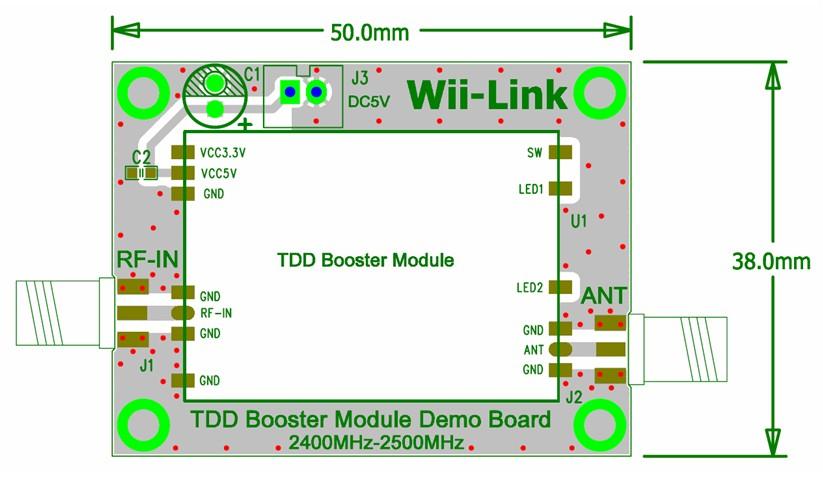 Усилитель мощности Wii/link  2.4G 2W Zigbee WIFI