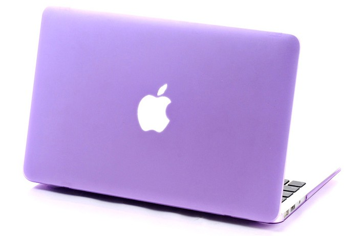 Housse coque matte azerty protection clavier violet pour for Housse macbook air 13