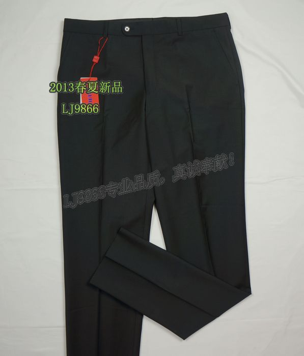 Durable Wool Breathable Soft Comfortable Solid Men Suit Pants