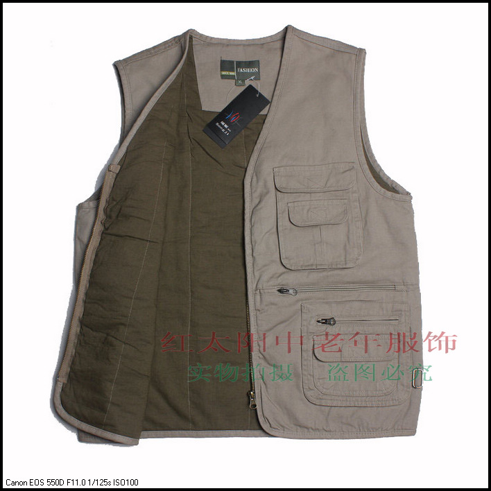 Winter men's additions of cotton vest men cotton thickened their new leisure vest good gift for Dad