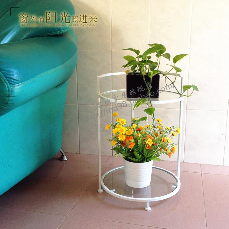 【現貨042】鐵藝茶幾/玻璃桌//幾桌/床邊桌/多功能/電話架