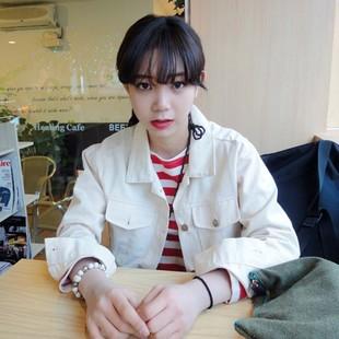 Короткая куртка Ulzzang Корейский школа Ветер случайных универсальный сплошной цвет куртки