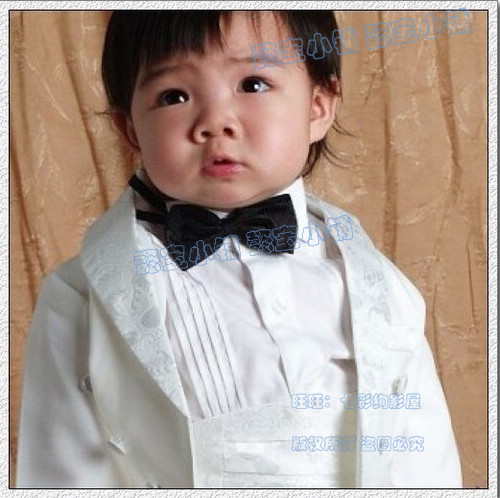 Childeku [National] surges over 60 fashion Korean handsome bow tie baby / child tie - Red Black