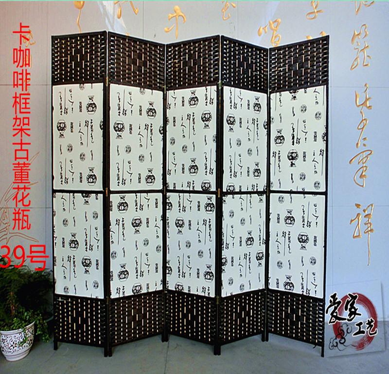ширма Складной экран номер разделители современный китайский моды гостиной минималистский IKEA водонепроницаемый только карточка со сгибом ткани