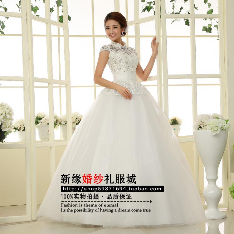 Свадебное платье Новое свадебное платье новый 20,131 ретро плечи тонкий соответствие Принцесса невеста, осень/зима свадебное платье