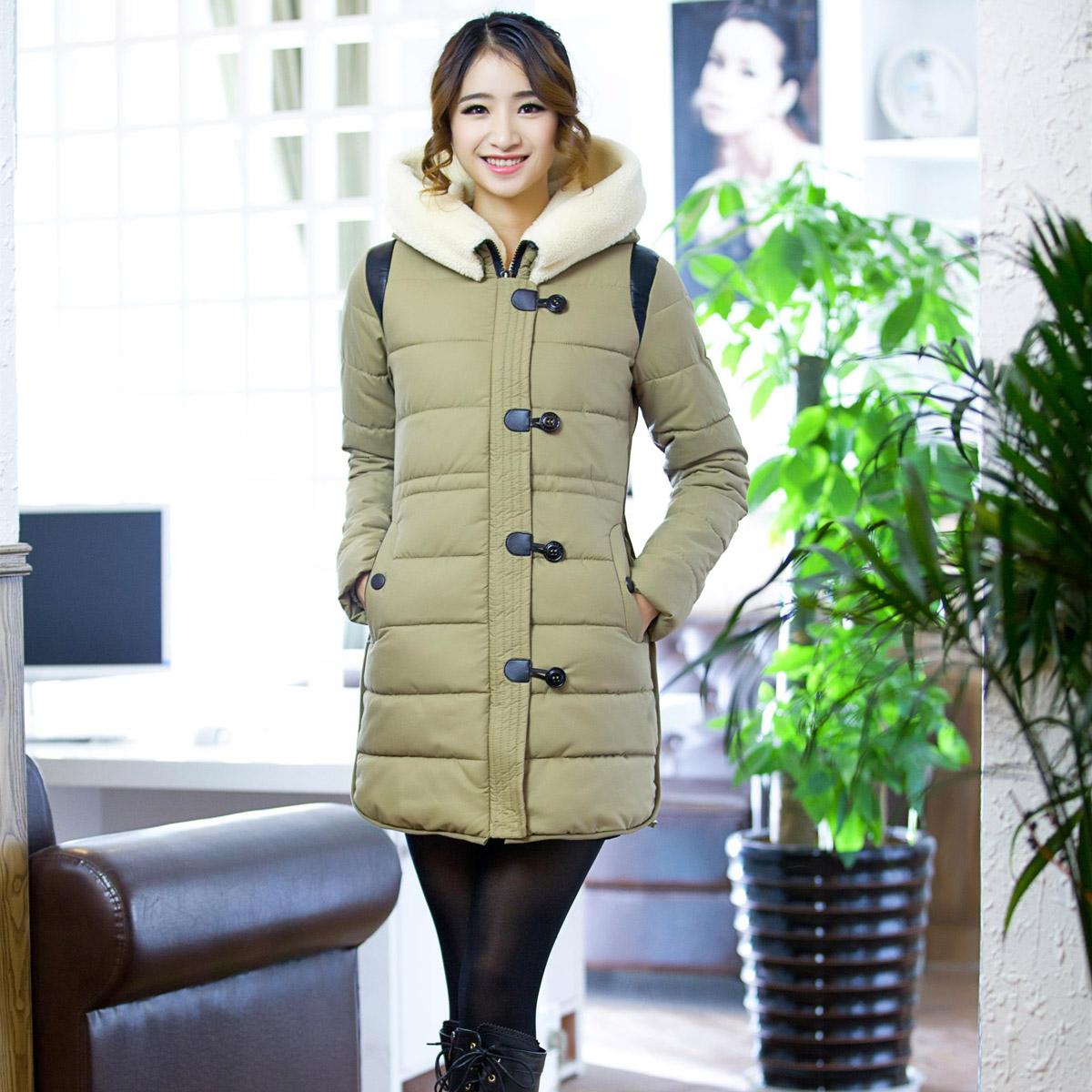 Женская утепленная куртка Корейский отдыха пальто женских 2013 новые зимние пальто мягкий длинные куртки пальто кореянка пальто