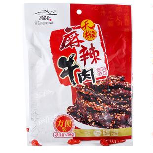 Говядина Сычуань перец и Острый говяжий отрывисто, 100 г вкусный аромат кухня дней JY малых zhitao снек-магазин с рекомендуется