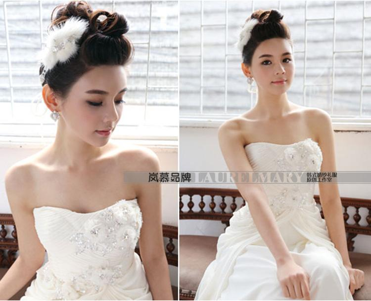 LAURELMARY sponsors the new Korean dress bridal new wedding dresses, chest bare little flowers nails Pearl dress banquet night ceremony clothing champagne color. size pictures, price, brand platters! Elections are good character, the national distribution, so why buy now enjoy more preferential! Health
