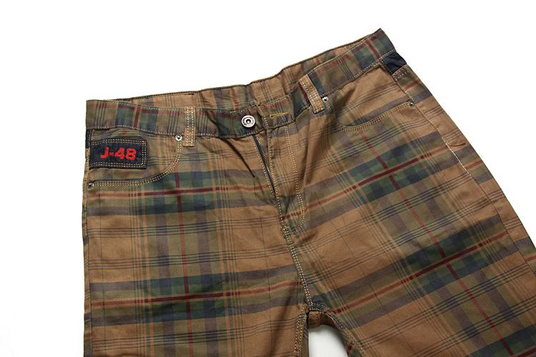 Повседневные брюки Добавление удобрение для увеличения дополнительных супер большой толстый человек брюки моды хлопок, которую плед шорты и пять жира брюки шорты Мужские брюки
