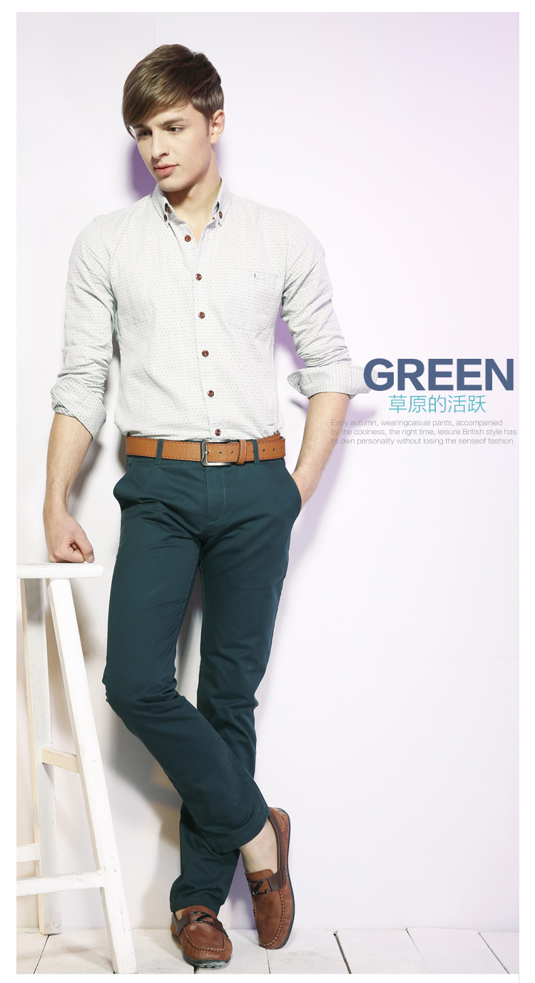 a.B.x 2013 new spring pants men pants Korean Slim casual pants fashion spring men's casual pants tide multicolor
