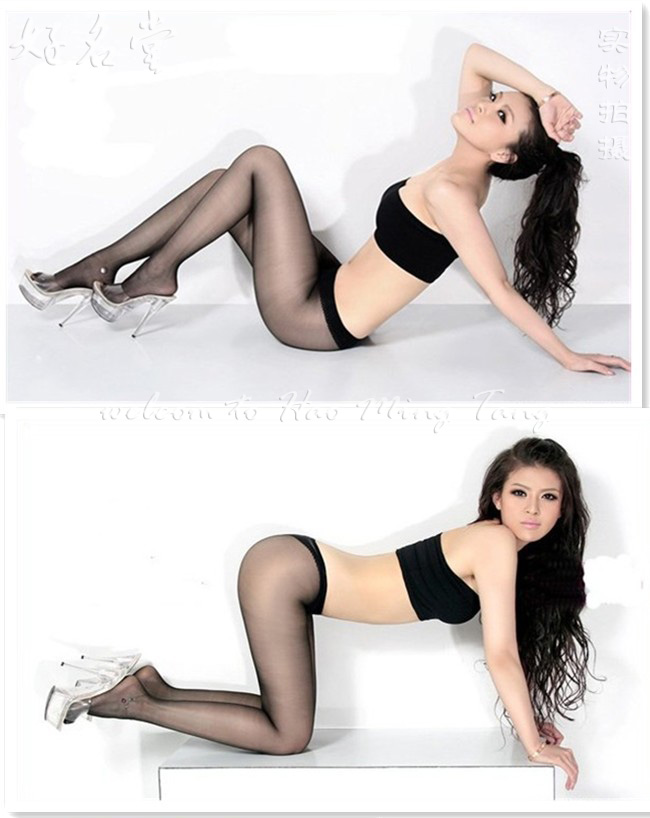 The good tricks pearl glossy ultra-low-waist T crotch transparent pantyhose stockings Hong Kong SK ultra-thin 5D popularity
