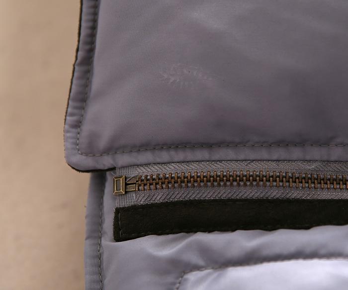 Женский пуховик Повседневные полное енота мехом замши строчки оригинал куртка молнии