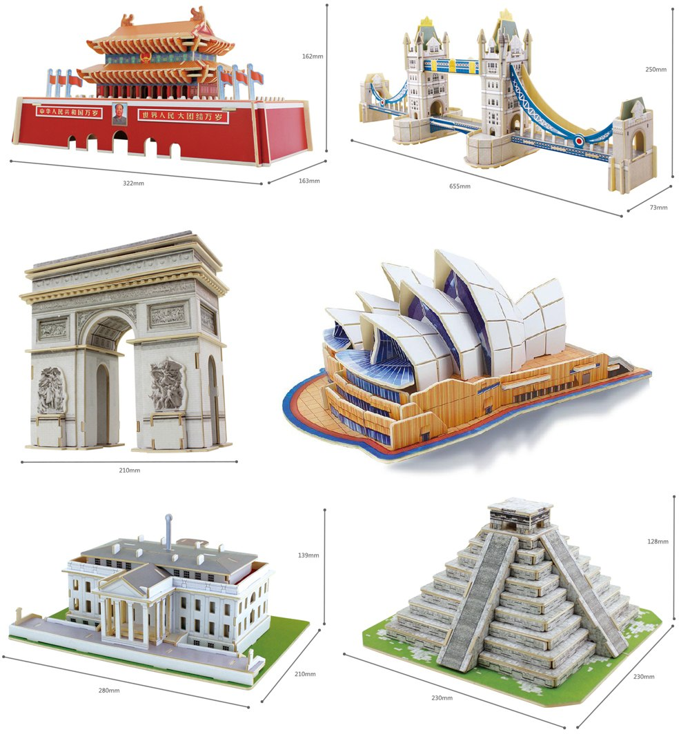 3d wood puzzle model china opera stage theatre tower folk for Arch decoration crossword clue