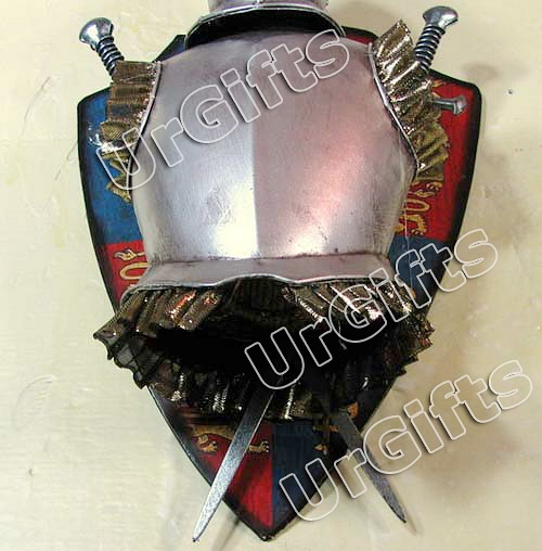 Medieval knight armor vintage hand made metal art bar wall for Armor decoration
