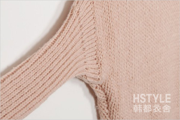HDYS Acrylic Fabric Knitted Solid Off Shoulder Long Sleeve Loose Women Sweater