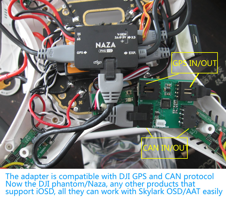 It Use Dji Gsp Data And Can Connect With Skylark Tinytiny Hvtracerock Osdaat Module Directly: Naza Osd Wiring Diagram At Kopipes.co
