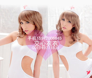 Contains Adult Nurse nurse uniform dress sexy sleepwear women's game sexy lingerie role playing party aprons apron