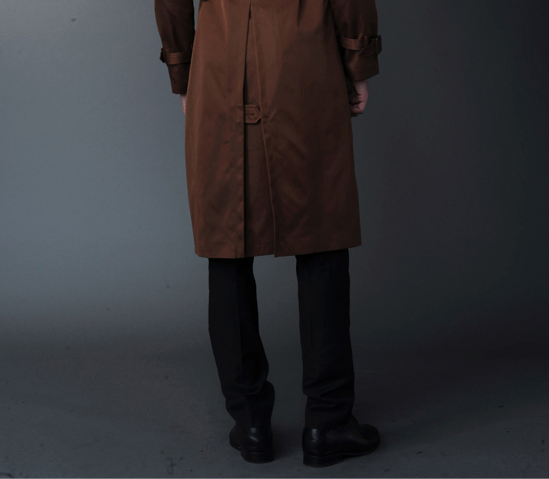 Ursmart Freestyle 2013 new skinny draping men's extra long trench coat rain mens long trench coat