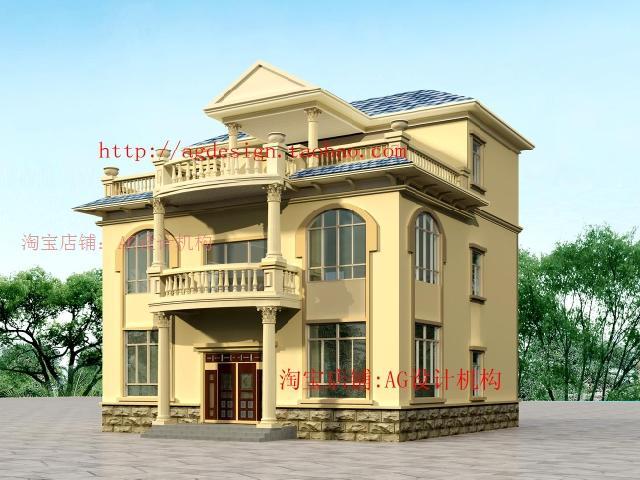 私人建房设计图 自建房8x10米设计图 9x12自建房设计图 20万农村建房