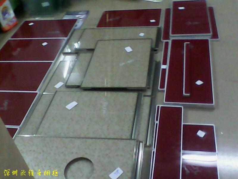壁橱、橱柜-整体橱柜 定做订制 晶钢门 台面 橱