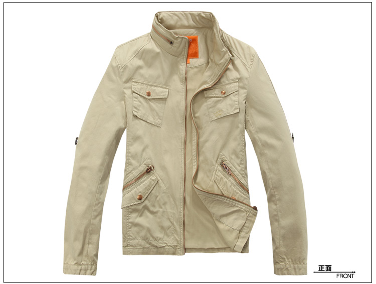 FairWhale 11 Philip Carnival-mark China collar casual Jacket mens cotton slim jacket men coat men