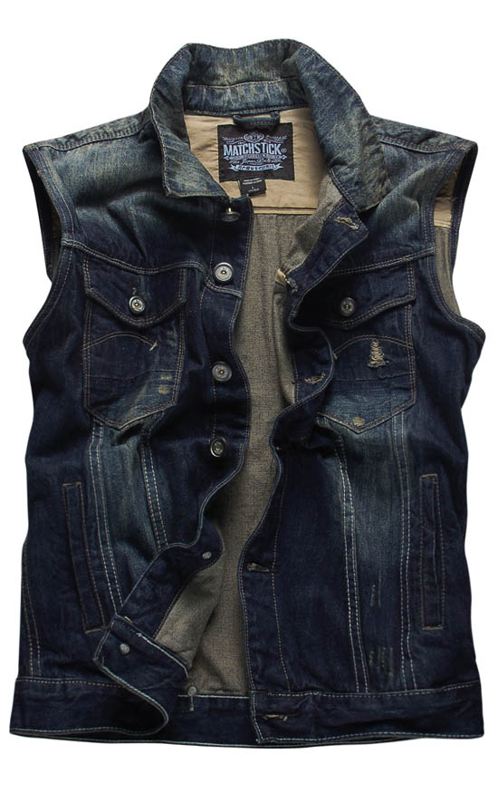 Match Match Ma Jichun installed new men s denim vests sleeveless denim vest men horse clip tide G0307