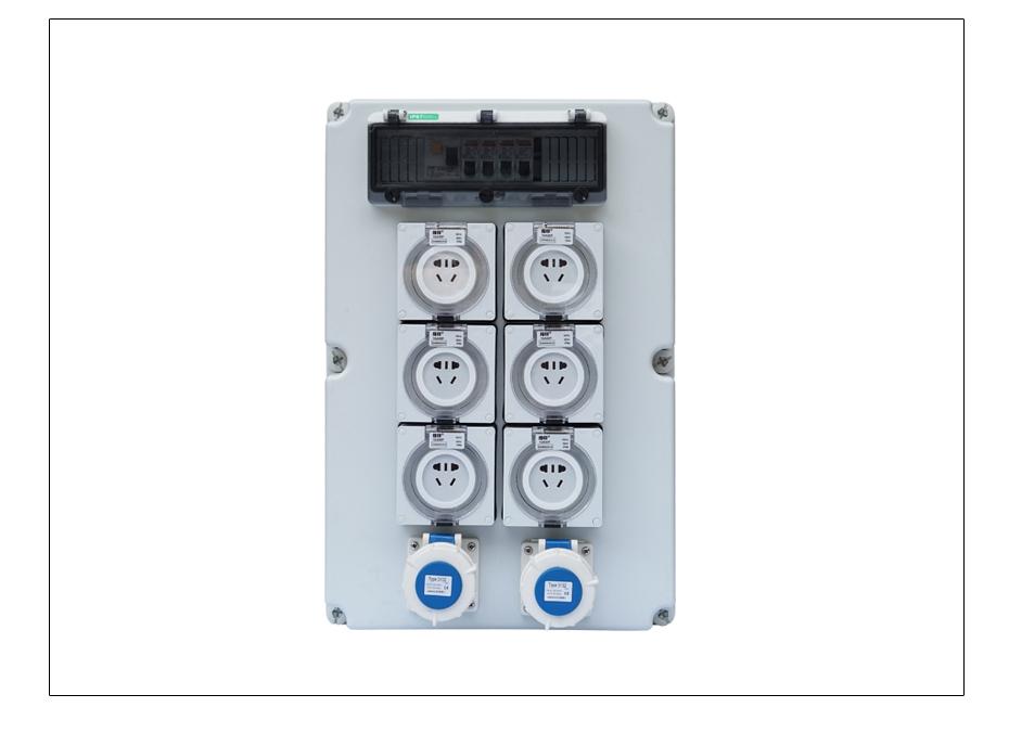 指印防水插座移动电源箱白色大箱