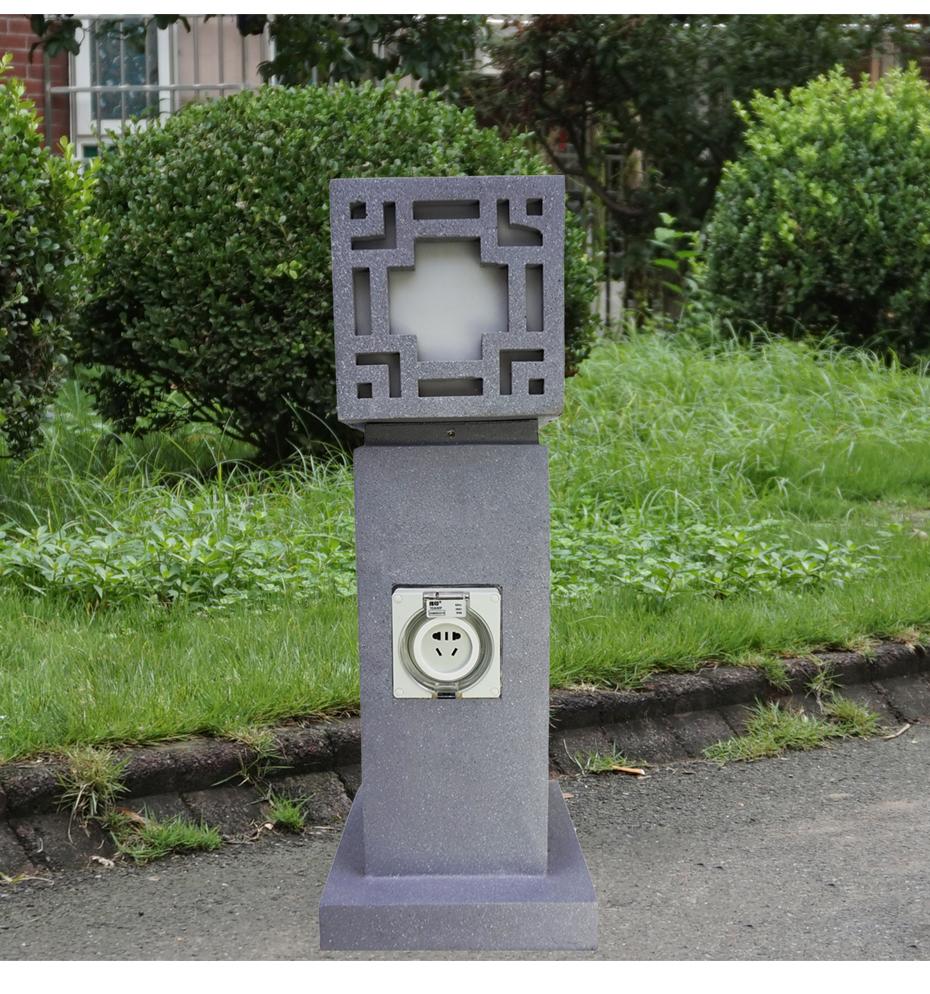 指印防水插座灯柱-ZD302_01