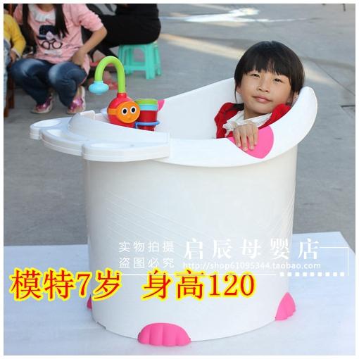 儿童洗澡桶宝宝泡澡桶超大号沐浴桶婴儿浴桶可坐 糖果色郁金香YJX图片