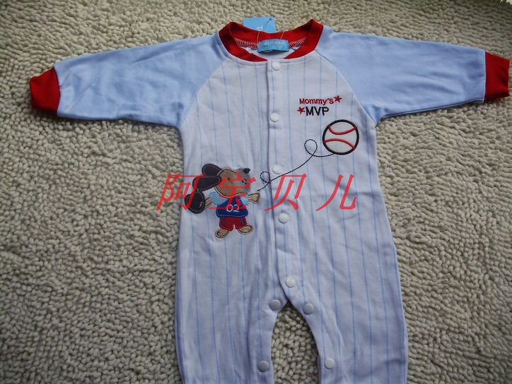 Qkyla Cotton Puppy Cute Spring Long High Infant Jumpsuits