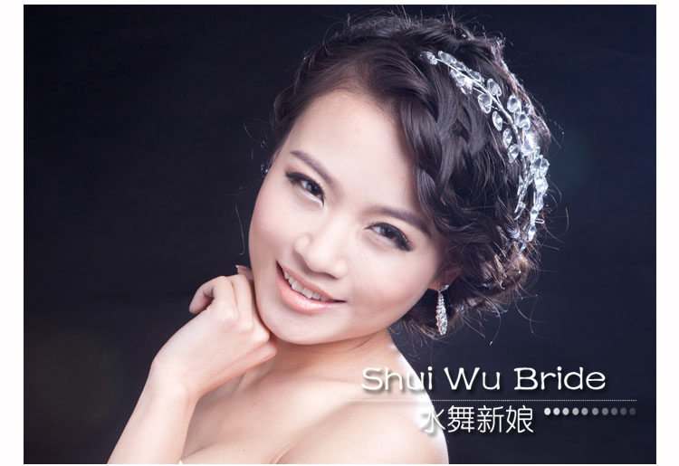 Beautiful Alloy Crystal Heart-shaped Bridal Wedding Headbands 2 Pieces Per Lot