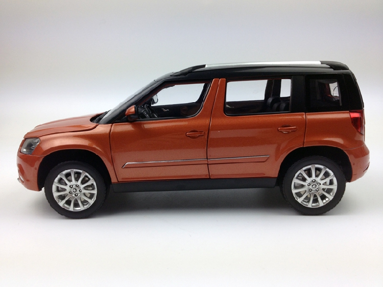 1 18 shanghai volkswagen skoda yeti city edition orange