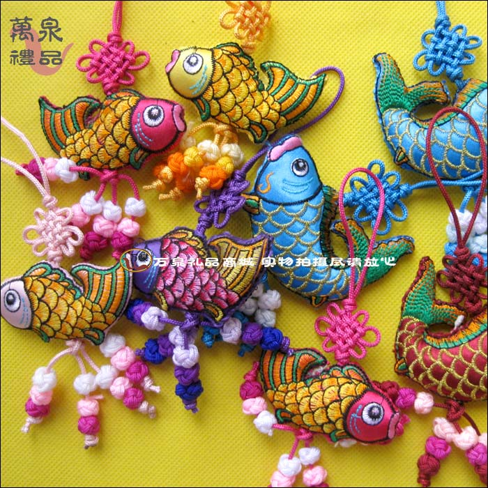 double-sided embroidery sachet pendant Chinese knot abroad of foreign small gifts sachets sachet