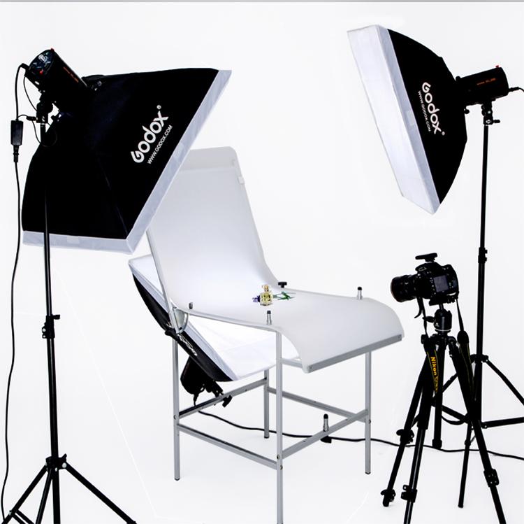 Освещение для студий Священная корова 250W свет флэш фотографии наряд студии съемки таблицы Комплект мягкой Камера Kit