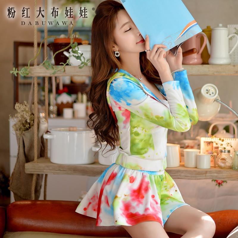 印花蓬蓬半裙