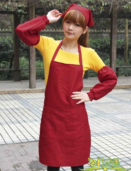 Seven of the lotus Korean version of the cute Korean restaurant waiter uniforms aprons kitchen apron customized LOGO 950 models