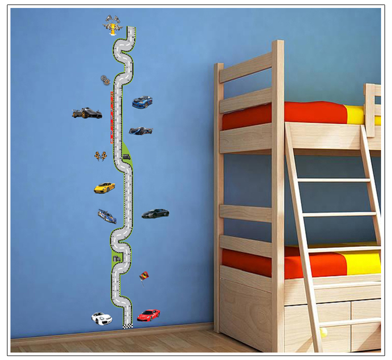 Hongxuan happy childhood cartoon Height stickers nursery children's room wall decoration sticker Promotion 7067