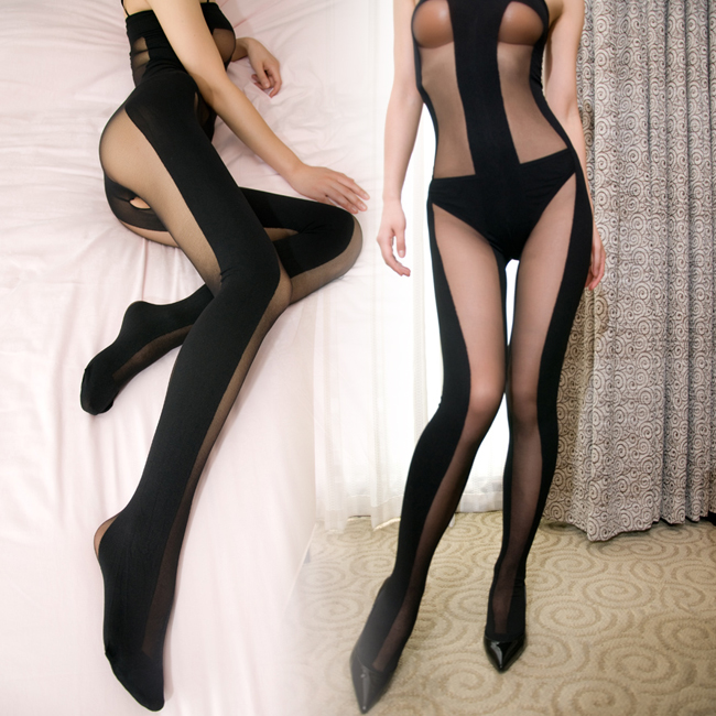 1 2011 New Sexy lingerie lace transparent tulle three women rope crotch leotard clothing