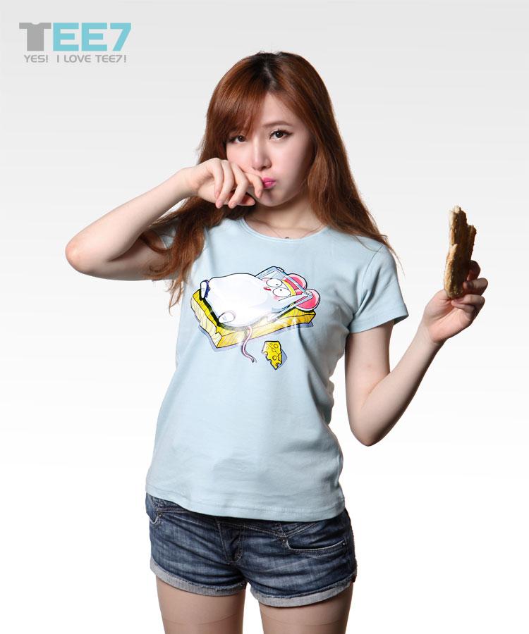 小老鼠达人秀女款修身短袖T恤