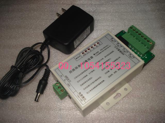 Интерфейсная карта Опто изолированные 4-полосная хаб/485 485 общий/bi направленного коммуникации/мощности распределения/дистрибьютор за три года