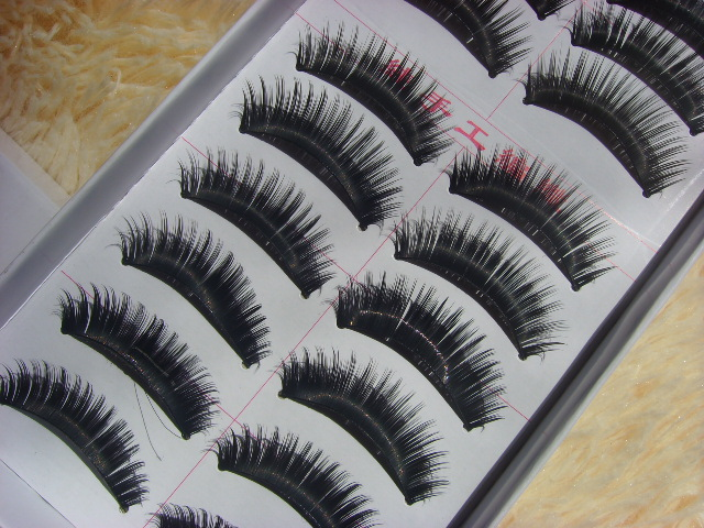 False eyelashes thick end of eye elongation of 013 pure manual