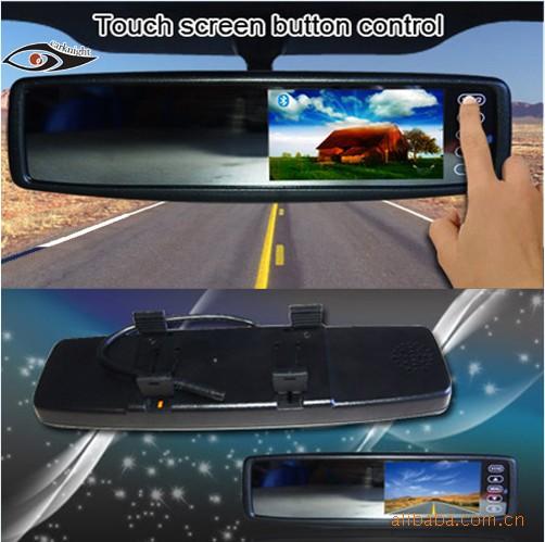 GPS-навигаторы в зеркало заднего вида Сенсорный HD экран 4,3-дюймовый универсальный ЖК автомобиль зеркало заднего вида монитор зеркало
