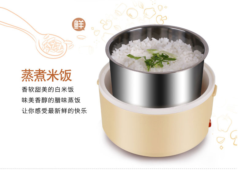 SDLP Ten degrees yield SD - 936 boxes large capacity electric heating lunch box stainless steel interior cooking