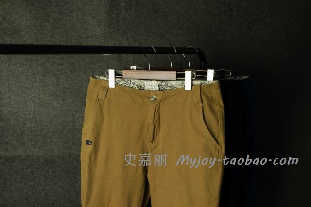 Leisure in Waist Small Rectangular Cotton Men Trousers